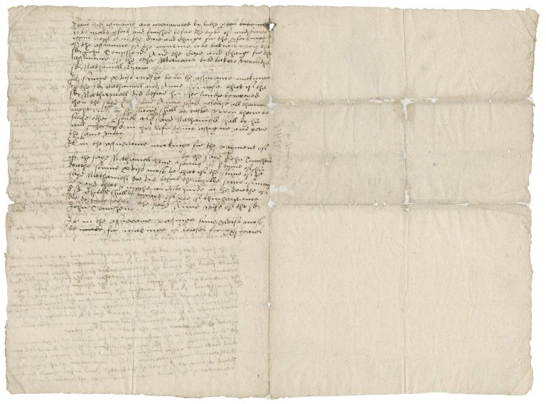 Articles of agreement between Nathaniel Bacon and Sir John Townshend concerning the marriage settlement of Anne Bacon : draft
