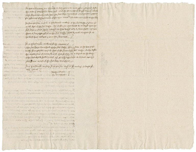 Articles of agreement between Nathaniel Bacon and Sir John Townshend concerning the marriage settlement of Anne Bacon : copy