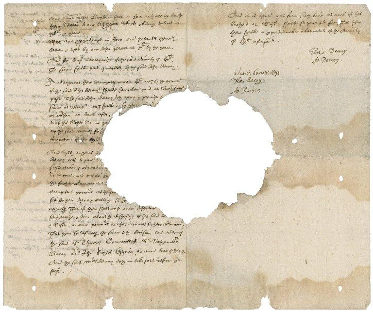 Arbitration between Elizabeth and John Denny, by Bacon, Sir Charles Cornwallis and John Richers