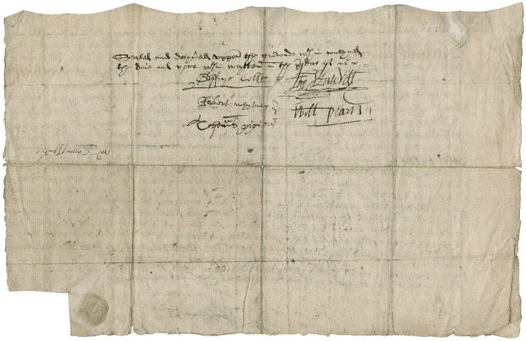 Indenture of Sir Roger Townshend (1543?-1590) for a lease of Coxford Lodge Ground