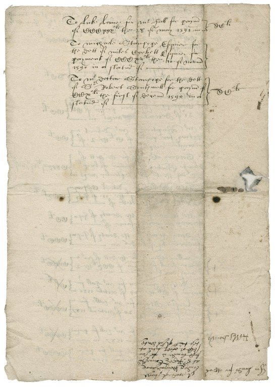 List of bonds at Sir Roger Townshend's (1543?-1590) death