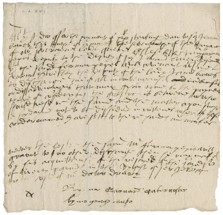 Agreement between Anthony Stretley, deputy of Lady Jane Bowes, and Farmer (Jerome) Pepys, deputy to the deputy of Sir Jerome Bowes
