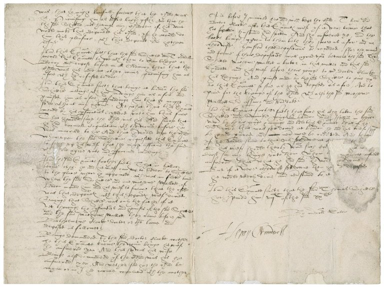 Examination before Nathaniel Bacon of William Eaton before Henry Lord Cromwell : copy