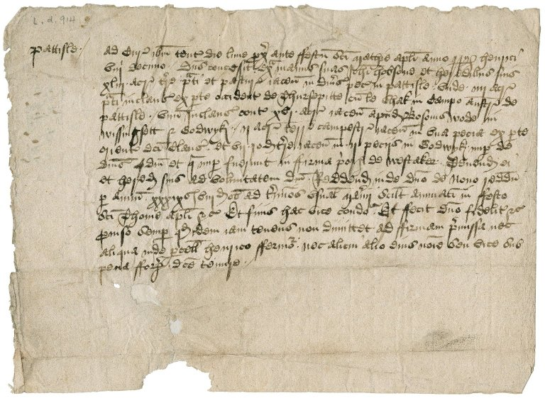 Court roll granting land to John Hobson in Pattesley, Norfolk : copy