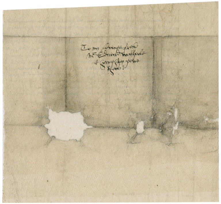 Letter from unidentified correspondent to Edward Walpole