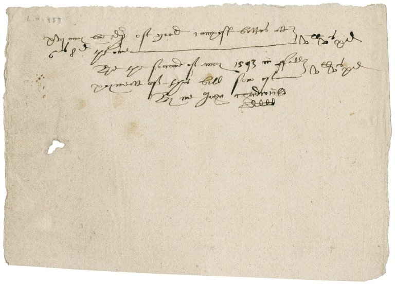 Bill for jewelry to Lady Jane (Stanhope) Townshend