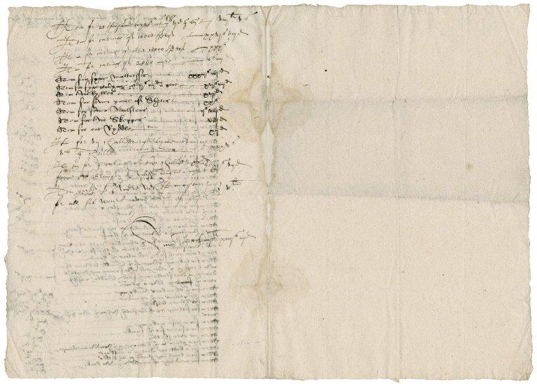 List of disbursements for the creation of a bridewell at Arlesham [i.e. Aylsham]