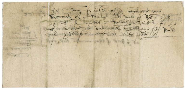 Receipt for rents paid to the Dean (George Gardiner) and Chapter of Norwich Cathedral