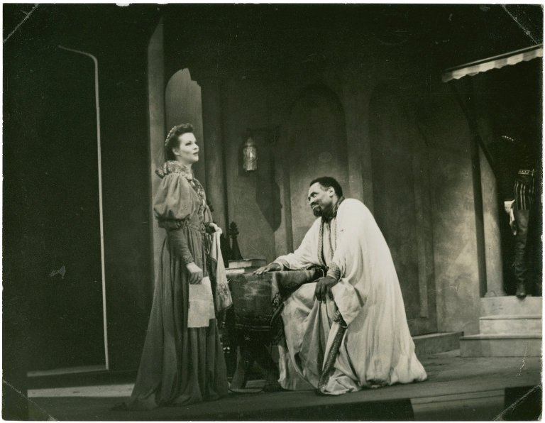 Paul Robeson in Othello, Act I Scene 4; circa 1944