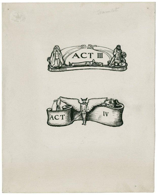 Hamlet, a set of 13 original drawings