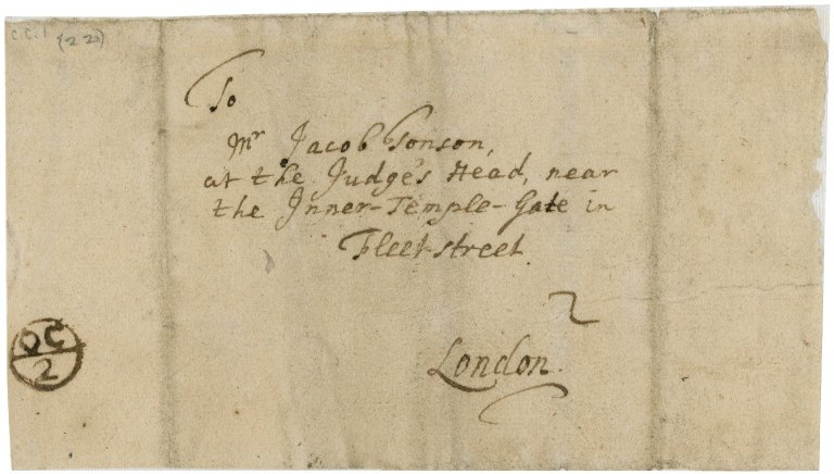 Letter from Basil Kennett to Jacob Tonson I : autograph manuscript signed