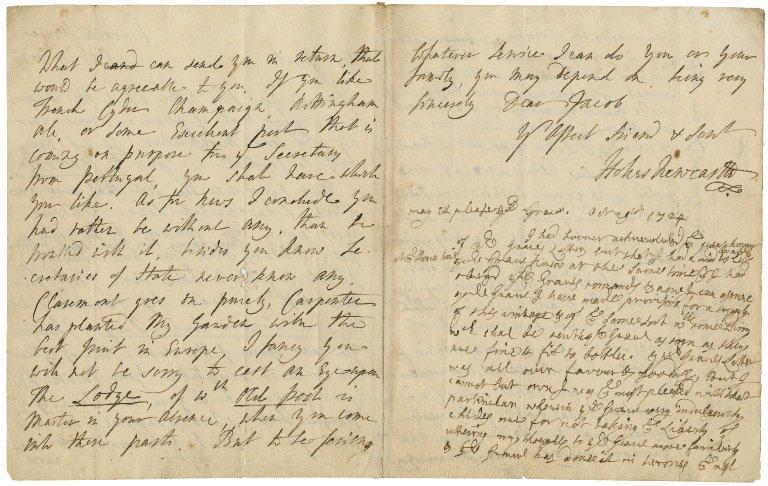 Letter from Thomas Pelham-Holles, Duke of Newcastle, to Jacob Tonson I : autograph manuscript signed