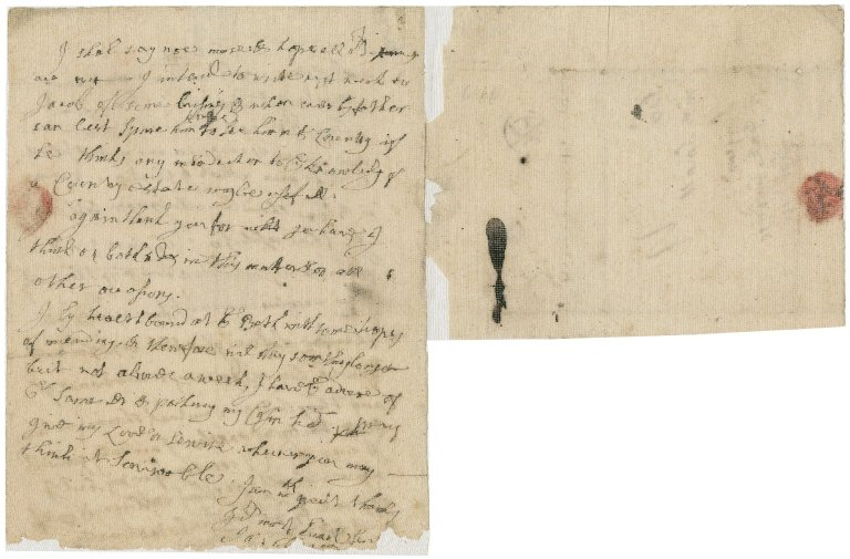 Letter from Jacob Tonson, Bath, to Alexander Small : autograph manuscript signed