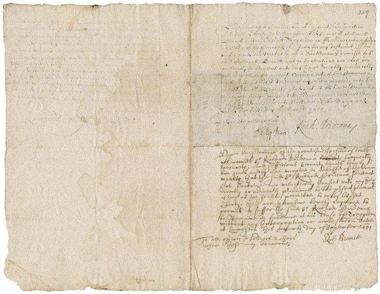 Parole of Sir Richard Prideaux : copy
