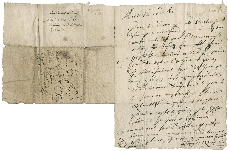 Letter from Fergus Neilson to David Rattray of Craighall, London