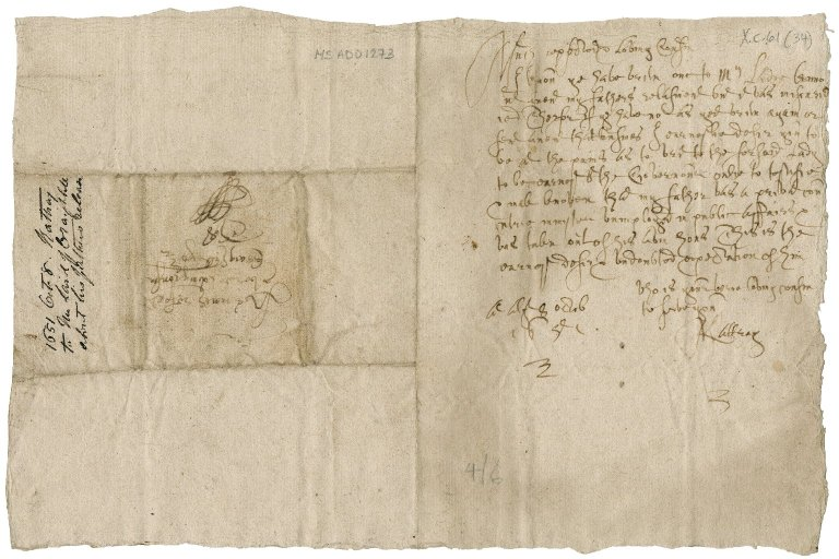 Letter from John Rattray, minister of Ruthven to Patrick Rattray of Craighall, Alyth