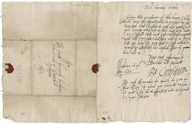 Letter from Robert Crichton to Patrick Rattray of Craighall, Mugdrum