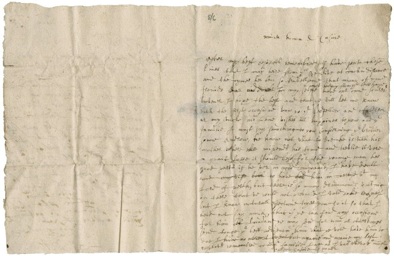 Letter from William Fullerton to Patrick Rattray of Craighall, Edinburgh