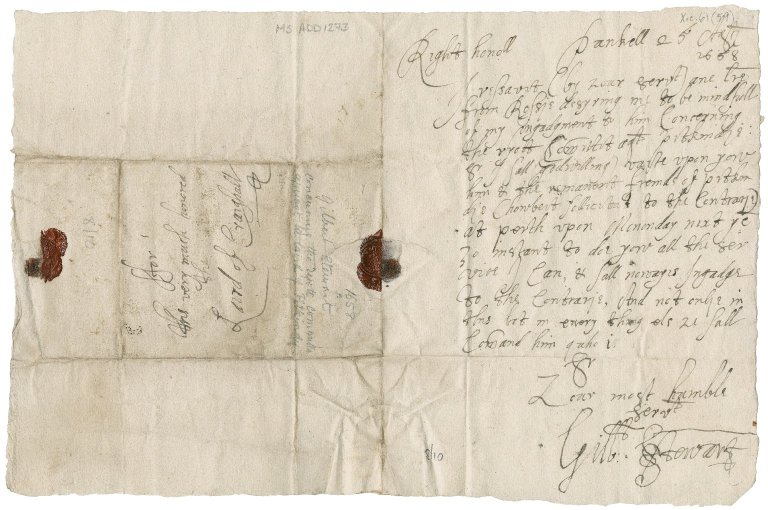 Letter from Gilbert Stewart to Patrick Rattray of Craighall, Pankell
