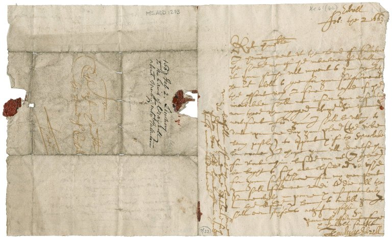 Letter from John Lindsay of Edzell to Patrick Rattray of Craighall, Edzell