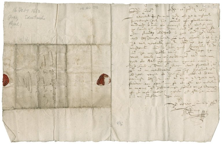 Letter from W. Gray to Patrick Rattray of Craighall, Edinburgh