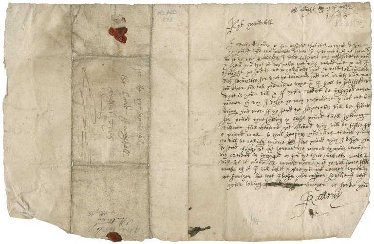 Letter from John Rattray to Patrick Rattray of Craighall (his brother), Alyth