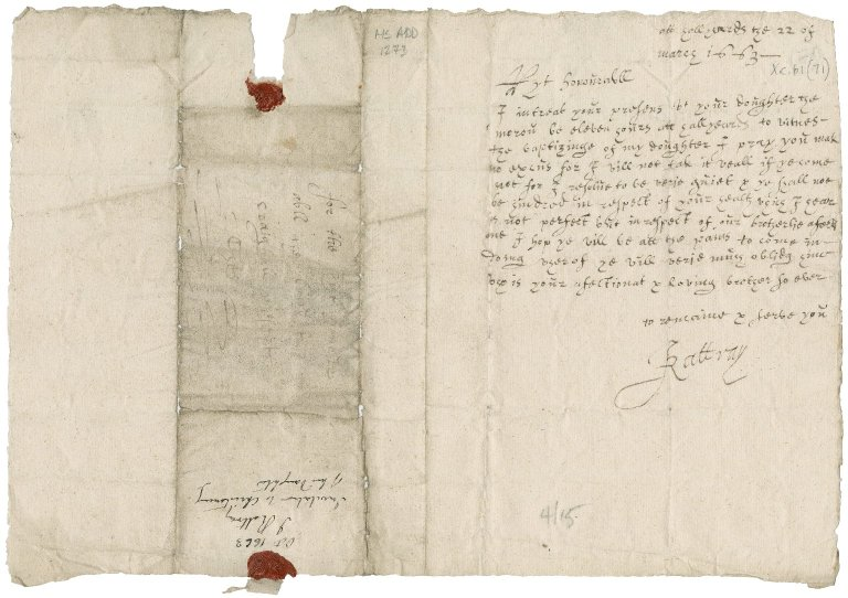Letter from John Rattray to Patrick Rattray of Craighall, Hallyards