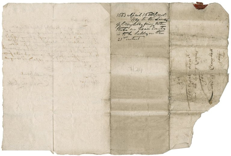 Letter from George Hay to Patrick Rattray of Craighall, Erroll