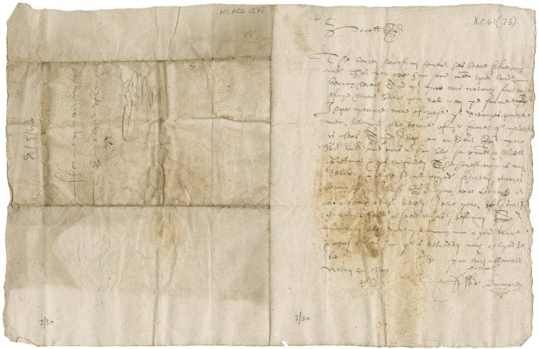 Letter from David Dunmure of Nevay to Patrick Rattray of Craighall, Nevay