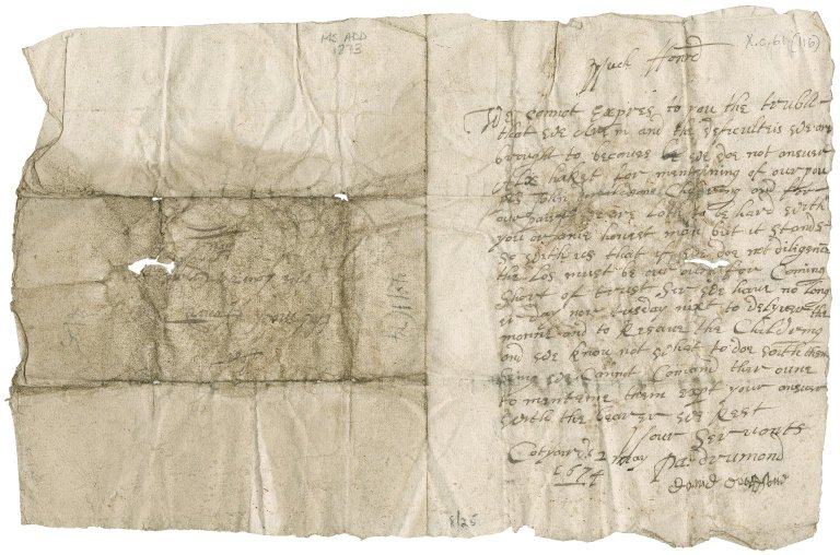 Letter from Patrick Drummond and David Davidson to Patrick Rattray of Craighall, Cotyards