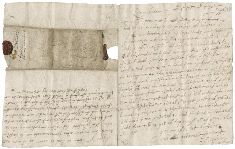 Letter from John Ogilvy of Balfour to James Rattray of Craighall, Alyth
