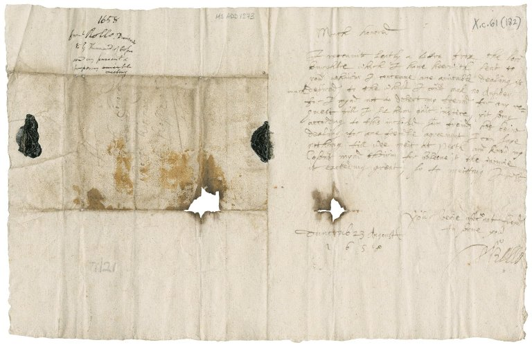 Letter from Rollo of Duncrub to George Kinnaird of Rossie, Duncrub