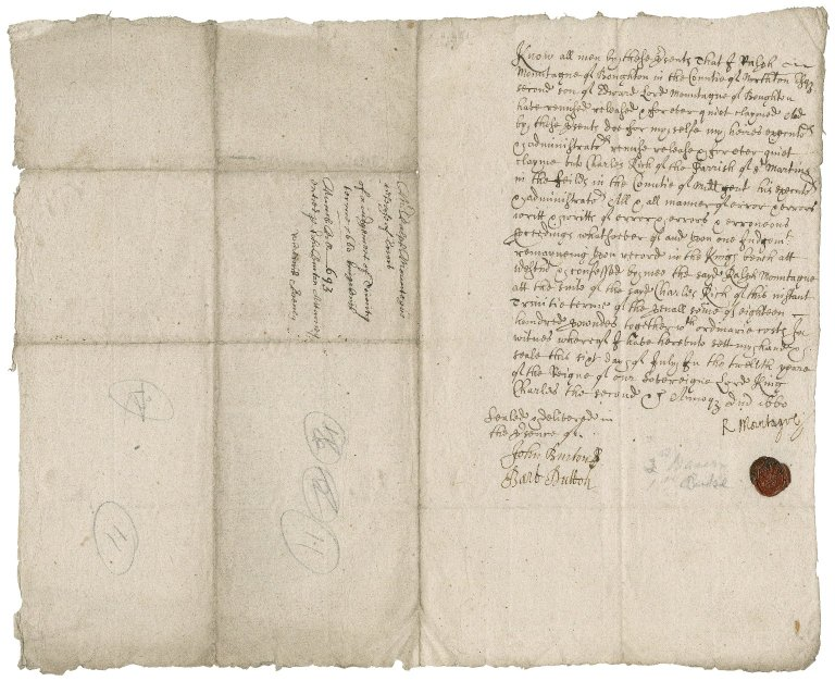 Legal papers arising out of the debt of Edward Montagu owed to Charles Rich (X.d.451 (25-27))