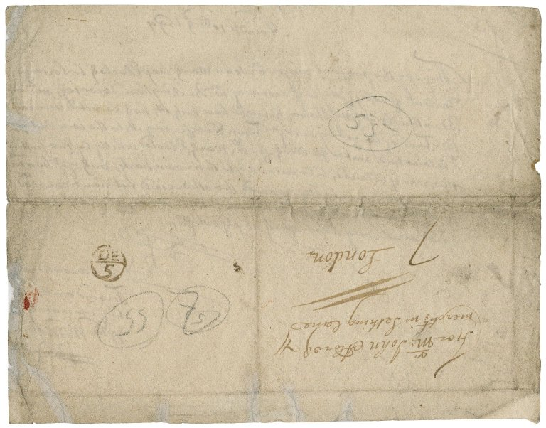 Letter from William Weddell, Norwich, to John Aldred, merchant in Seething lane, London