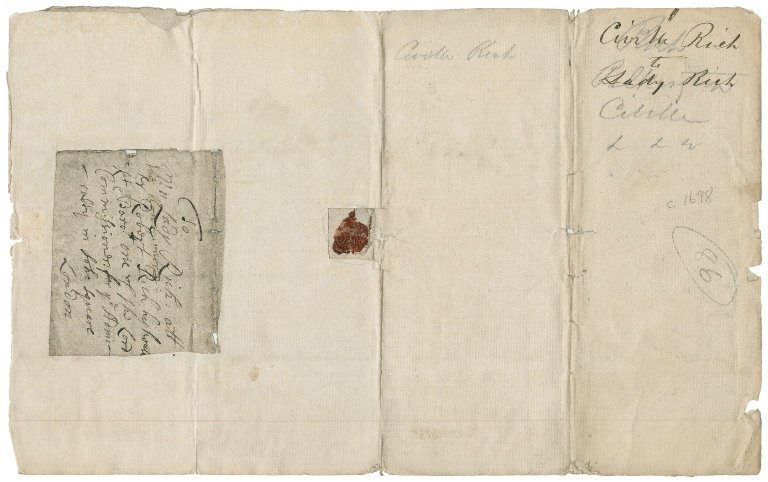 Letters from Civel Rich (nephew) to Lady Mary Rich: X.d.451 (221-222)