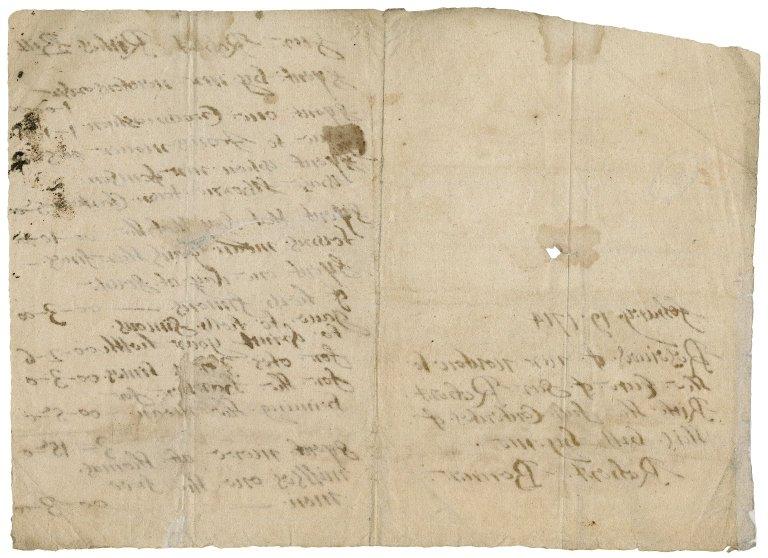 Receipt from Robert Bonner to Sir Robert Rich