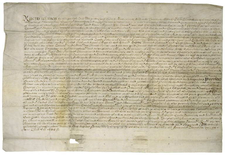 Release from Peter Civel to Sir Robert Rich