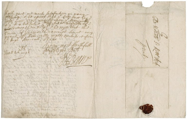 Letter from W. Beane to Sir Robert Rich