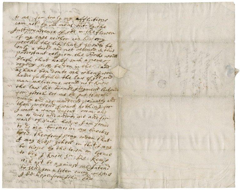 Letter from John Eade, Dunwich, to Sir Robert Rich