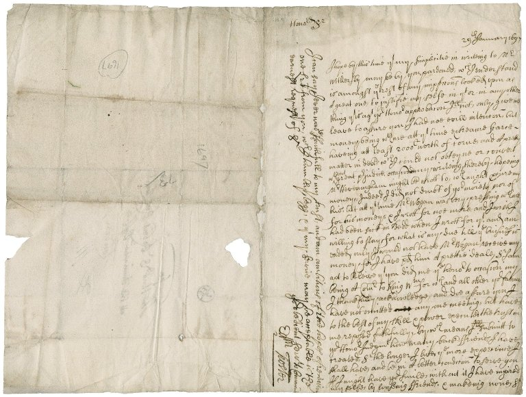 Letter from Edmund Foster to Sir Robert Rich