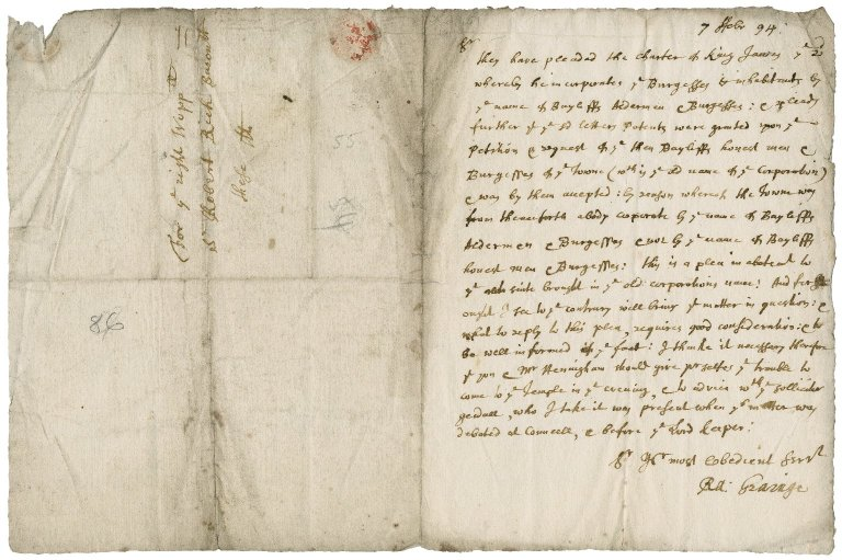 Letter from Ra. Graing to Sir Robert Rich