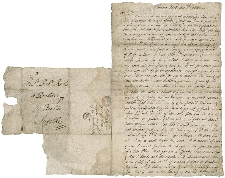 Letter from Richard Horsey, London, to Sir Robert Rich