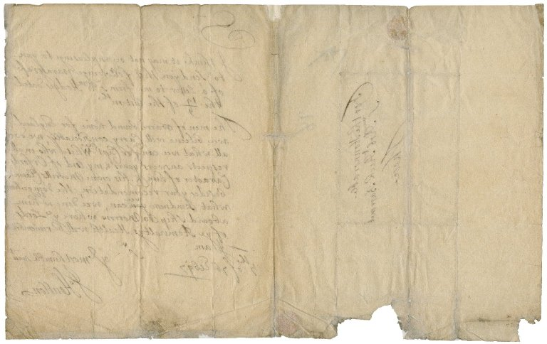 Letter from Sir John Houblon to Sir Robert Rich