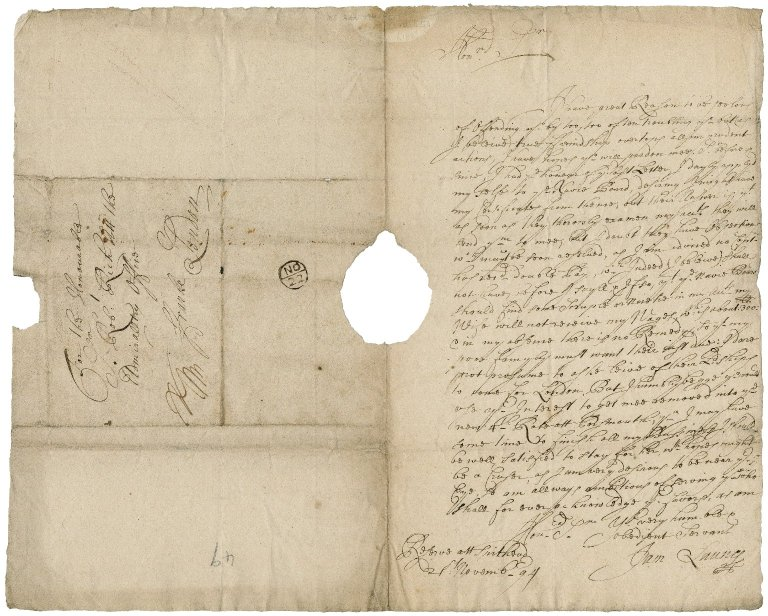 Letter from James Launy, on board the Reserve, at Spithead, to Sir Robert Rich