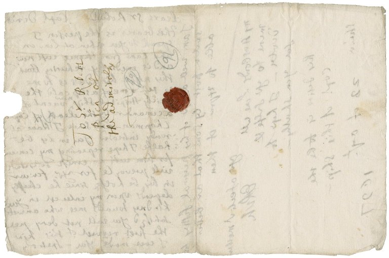 Letter from Elizabeth (Kerr) Rich, Stondon, Essex, to Sir Robert Rich