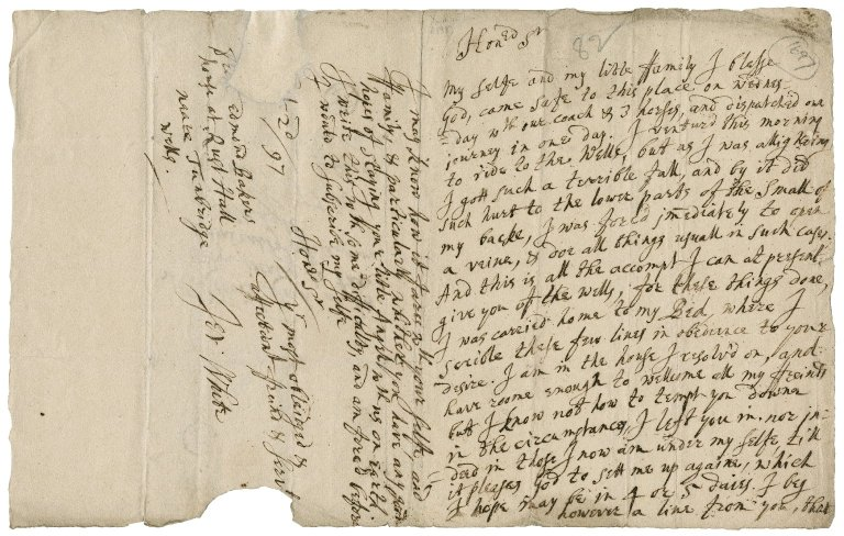 Letter from Jer. White to Sir Robert Rich