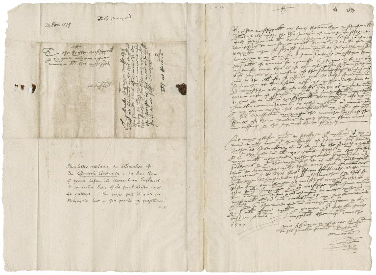 More, Robert. Letter. To Lady Margaret More, at Loseley.