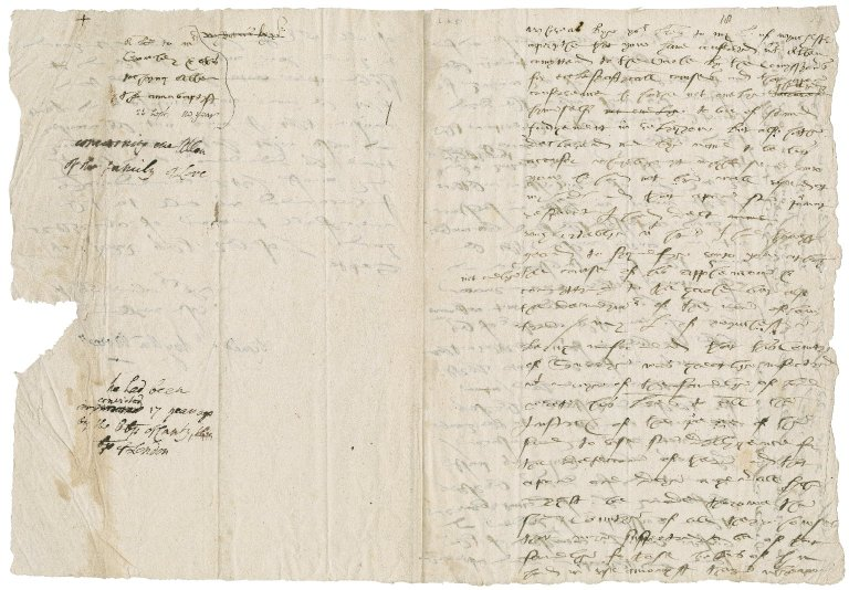 More, Sir William. Autograph draft of a letter, signed. To Crowley. Loseley.