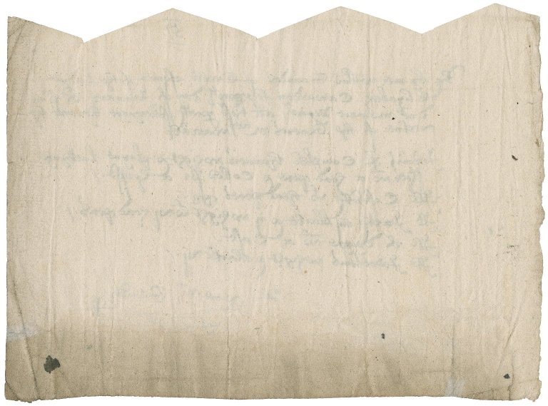 Saunders, Sir Thomas. Receipt for armor taken by him and William Saunders from Lady Elizabeth Cawarden.