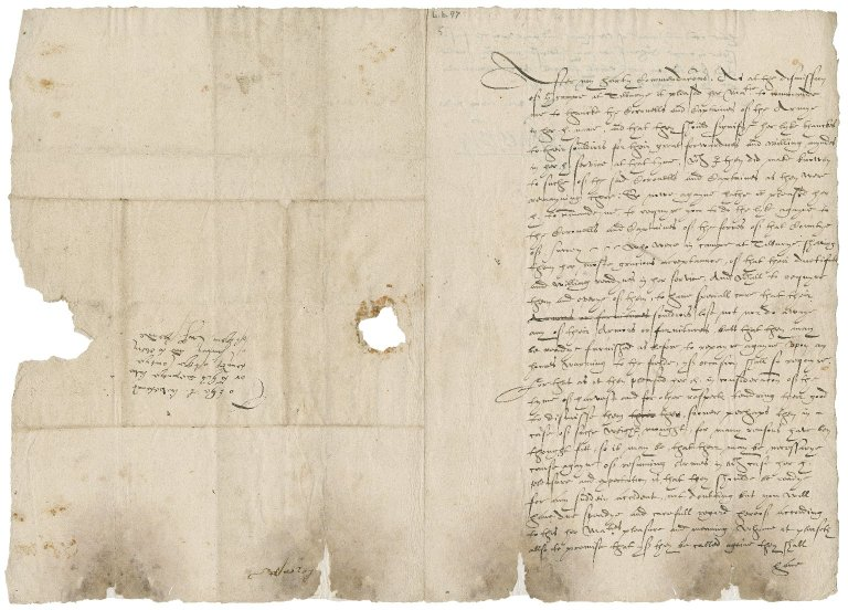 Leicester, Robert Dudley, Earl of. Circular letter, signed. To the Lord Lieutenant of Surrey. The court at St. James.
